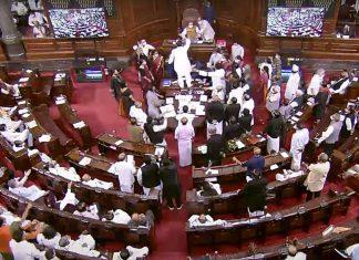 The Rajya Sabha was adjourned Tuesday amid Opposition uproar | ANI