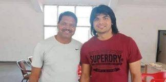 Olympic gold medallist Neeraj Chopra with former Naseem Ahmad | Twitter