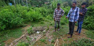 Abibur Rehman, an Assam resident, shows the spot where his hut once stood along the Lailapur-Varaingte border   Photo: Praveen Jain/ThePrint